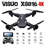 AKDSteel Vi-SUO XS816 Optical Flow Positioning 4K 720P Dual Camera WiFi FPV RC Drone Gesture Shooting Selfie Drone VS XS809HW XS809S E58 1 Battery