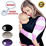 Baby Carrier Wrap Comfortable Baby Sling Wrap By KM Simple Baby Enjoy Babywearing! (black)