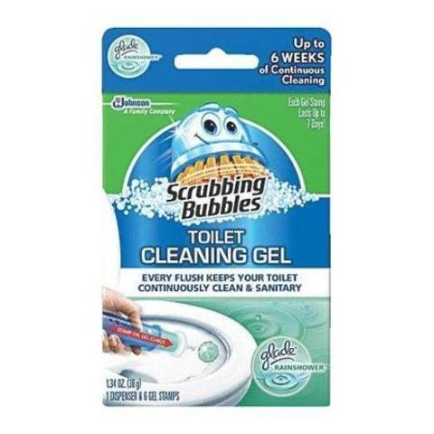 Scrubbing Bubbles Toilet Cleaning Gel Fresh - Size Pack of (4 Dispensers & 48 Gel Stamps)