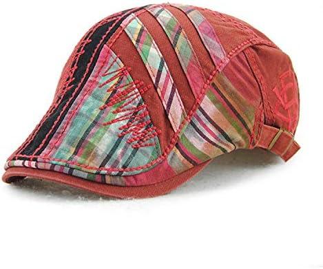 野球帽 キャスケット メンズ ハット ゴルフ 綿 防風 調整可能 日よけ お洒落 ハンチング 57cm〜59cm LWQJP (Color : グレー, Size : One Size)