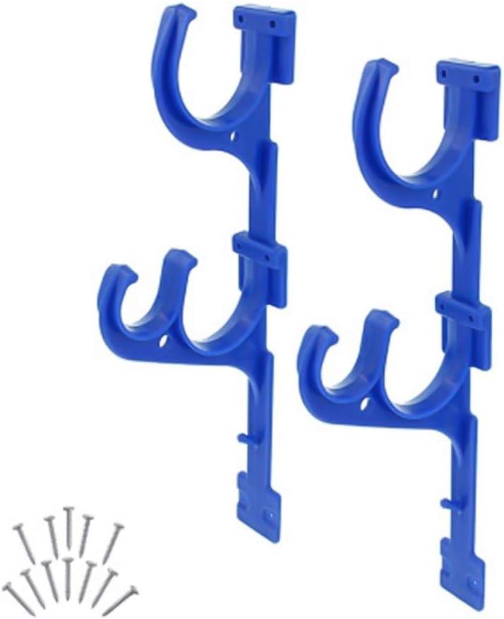 Pool Brush Hanger Premium 2pcs Pool Hooks for Poles and Hose, Fence Hooks for Pool Equipment, Garden Tool Organizer,Ideal Garden Hoses Holder for Skimmer Pole-Pool Pole Hanger Pool Brush Hangers