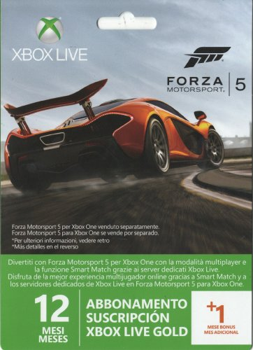 Xbox Live Month Gold Membership Card