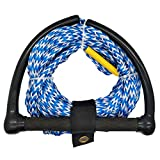Jranter Wakeboard Water Ski Towing Rope For motorboat Watersports Rope with Eva Handle, 75- Feet Blue