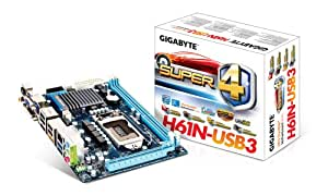 Gigabyte GA-H61N-USB3 - Placa base (DDR3 SDRAM, LGA 1155/Socket H2, Mini-ITX, PCIe x16, HDMI, USB 2.0, USB 3.0, eSATA II)