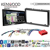 Volunteer Audio Kenwood DNX574S Double Din Radio Install Kit with GPS Navigation Apple CarPlay Android Auto Fits 2001-2006 Mazda Tribute