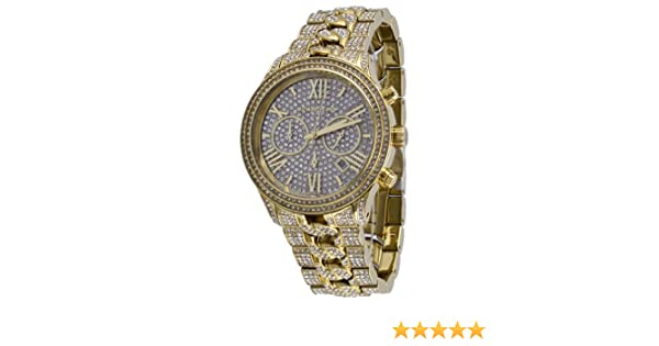 619d33e77be7 Amazon.com  Michael Kors Lindley Chronograph Gold Crystal Pave Dial  Gold-tone Ladies Watch MK5899  Michael Kors  Watches