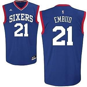 Joel Embiid Philadelphia 76ers #21 NBA Youth Road Jersey Blue