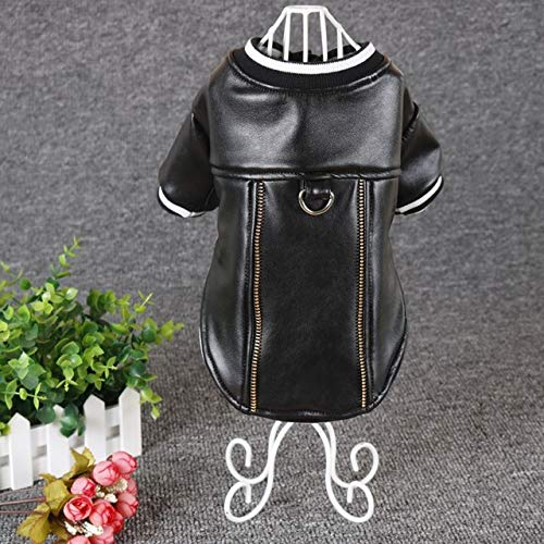 Dog Coats & Jackets - Pet Cashmere Warm Leather Coat Jacket Cloth Dog Puppy Fashion Costume Traction Rope Buckle - Detent Bounder Cad Familiari Crown Firedog Andiron Domestic Chase - ()