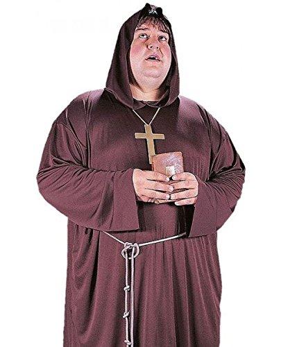 Mememall Fashion Mens Friar Tuck Medieval Monk Costume Robe Big and Tall XL Plus Size