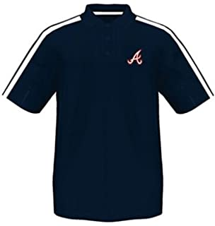 242f4555f VF Atlanta Braves MLB Majestic Synthetic Arm Polo Shirt Navy Men's Big &  Tall Sizes (