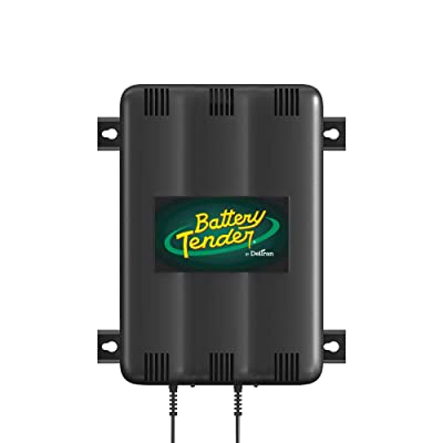 Battery Tender 2-Bank Charger: 12V, 1.25 Amp Battery Charger with 2 Charging Banks - Smart Battery Charger and Maintainer Station Charges Up to 2 Powersport Batteries at Once - 022-0165-DL-WH: Automotive