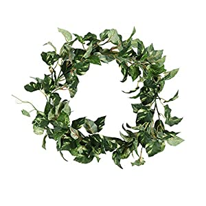 Colorfulife Artificial High-grade 3.3-Ft Ivy Leaf Vine Leaves Hanging Flowers Garland Plant Rattan Home Garden Wedding Party Wall Decoration 14