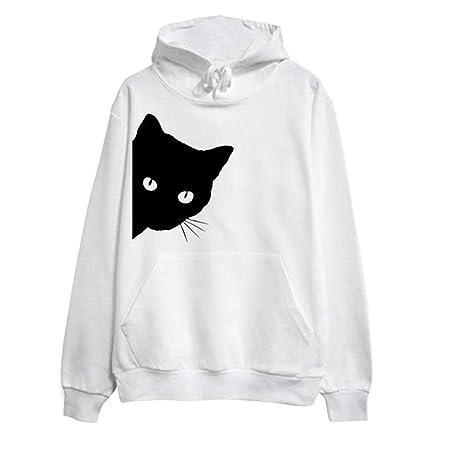 Amazon.com: Dainzuy Ladies Sexy Casual Sweatshirt,Long Sleeve Cat Print Hoodie Pullover Tops Blouse: Kitchen & Dining