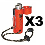 Ultimate Survival Technologies Trekker Stormproof Fire Lighter Orange (3-Pack)