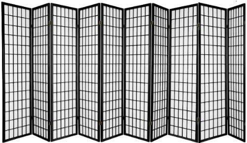 SQUARE FURNITURE Coaster Oriental Style Room Screen Divider,3,4,5,6,8,10 Black BLACK-10