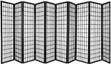 Product review for 10 Panel Room Divider Square Design - Black/Cherry/Natural /White