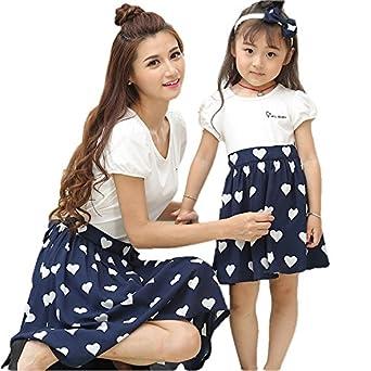 韓国ファッション サマードレス レディースファッション 夏季 親子ペア ママと娘 おそろい服 親子服