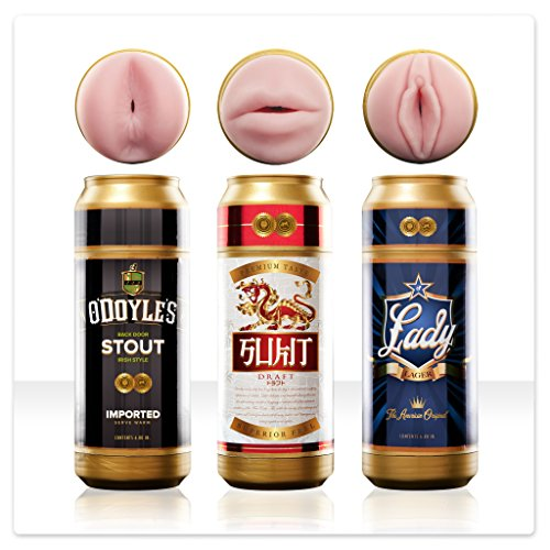 Fleshlight Sex In A Can 3-pack | Realistic Textured Male Masturbators by Fleshlight