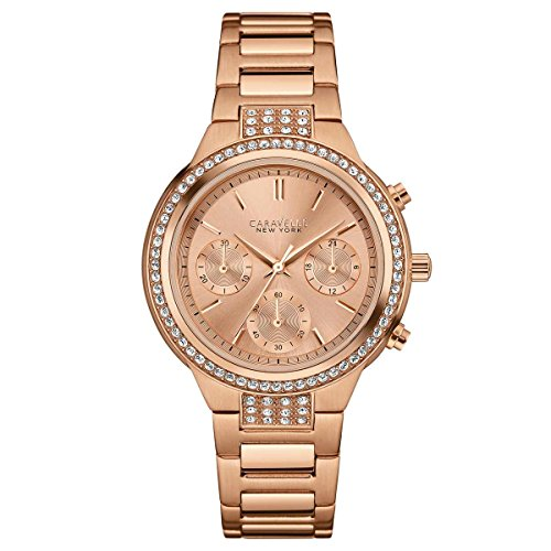Bulova Women's Quartz Stainless Steel Casual Watch, Color:Rose Gold-Toned (Model: 44L180)