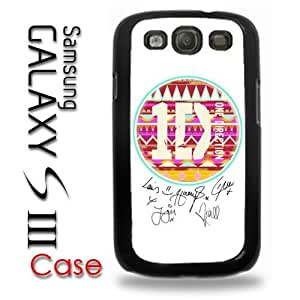 Samsung Galaxy S3 Plastic Case - One Direction 1D Aztec Logo and Autograph signatures of band