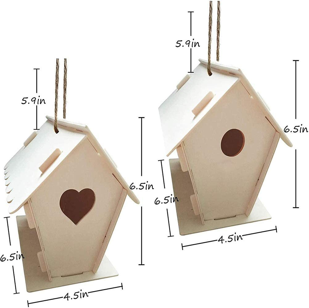 gaixample.org Stylelove 1 Sets DIY Wooden Birdhouse Kits Build and ...