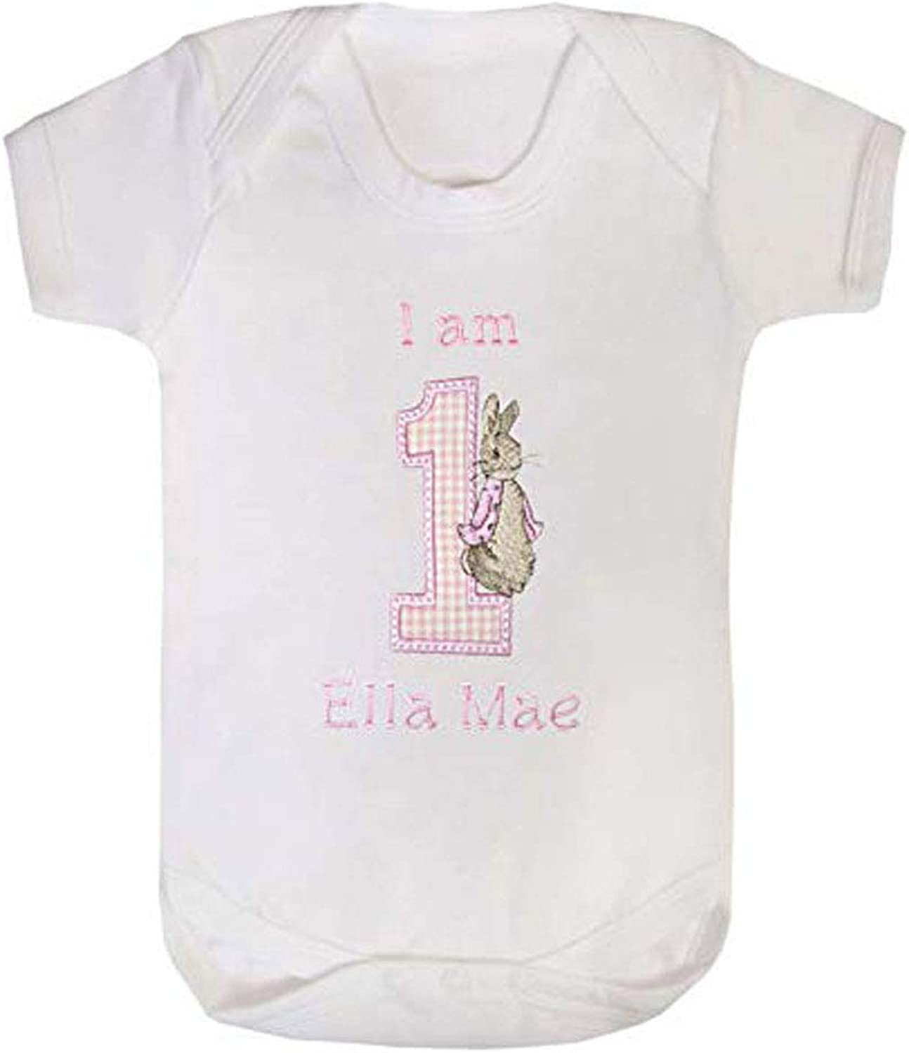 Personalised 1st Birthday 1 With Crown White Vest Size 12-18 Months