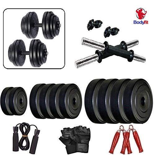 BodyFit 30kg Fitness Adjustable Dumbell Set Home Gym Kit