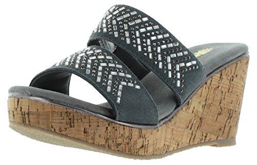 Pewter Jorie Volatile Sandal Wedge Women's Zf0q7A0