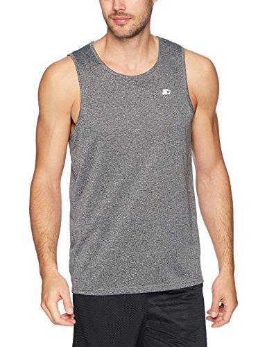 Starter Men's TRAINING-TECH Running Tank Top with Ventilation, Amazon Exclusive, Iron Grey, Medium (Shirt Sleeveless Tech)