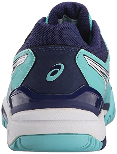 Women's Gel ASICS WIDE 6 Pool Blue White White Tennis Silver WIDE Indigo Resolution Blue version Shoe pRddwqI