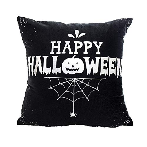 Special for Festival ! iYBUIA Happy Halloween Pillow Cases Polyester Cushion Cover Home Decor Pillowslip -
