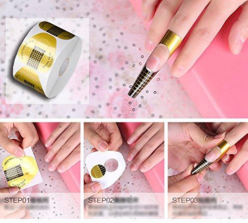 Bandeja de papel de manicura: necesario para la extensión de uñas de fototerapia, uña acrílica y uña de vidrio bandeja de papel de herradura bandeja de uña ...