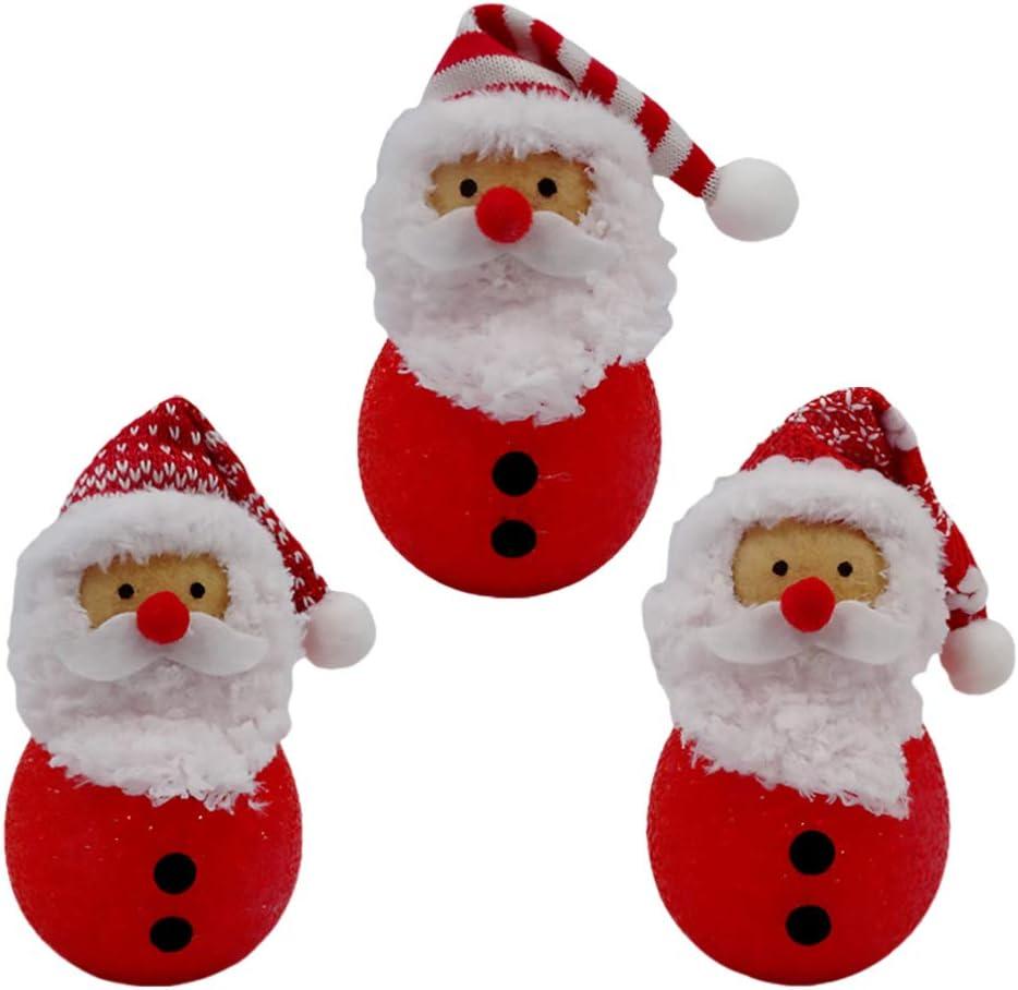 Amazon Com Aboofan 3pcs Christmas Santa Night Light Small Night Lamp Christmas Night Lamp Xmas Holiday Home Tabletop Decorations Ornaments Random Style Toys Games