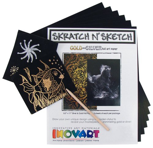 INOVART 1108 Skratch n' Sketch Gold and Silver