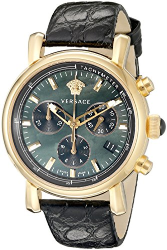 Versace-Womens-VLB050014-Day-Glam-Stainless-Steel-Watch-with-Black-Leather-Band