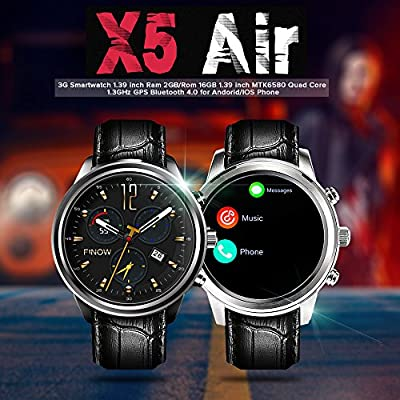 Finow Reloj Inteligente X5 Aire Wearable Dispositivos Android OS 2 ...