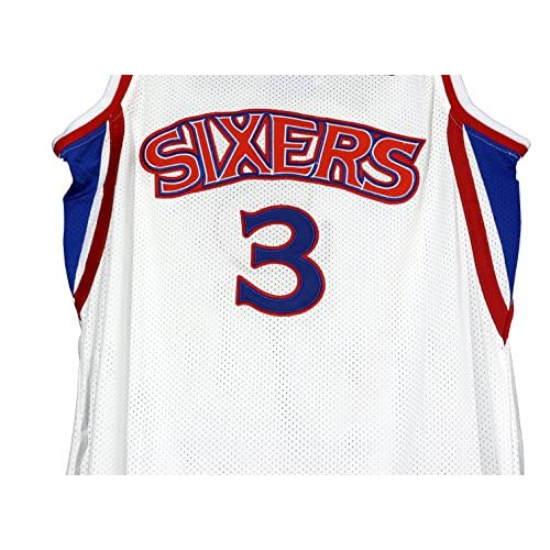 1eee9fa2664 Allen Iverson Philadelphia 76ers Signed Autographed White #3 Jersey PAAS COA