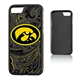 Keyscaper NCAA Iowa Hawkeyes Paisley Bump Case, iPhone 8/7, Black