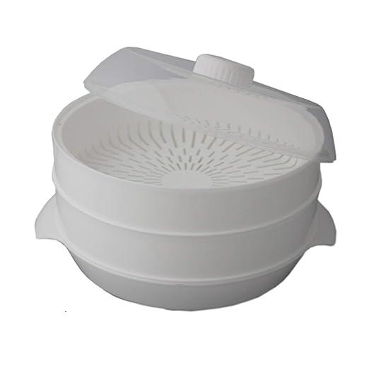 Cuisinier Elegance - Vaporera para microondas (2 niveles, 22 ...