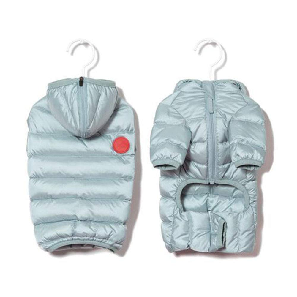 in vendita JHKJ Vestiti per Cani Autunno E Inverno Ultra Leggero Caldo Caldo Caldo Piumino Cotone Imbottito Vestiti Adatti per Busto 36-68cm (Nero, M),Lightblu-S  prezzi equi