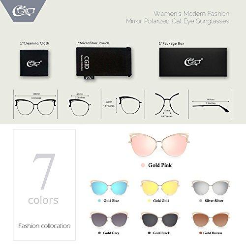 Gafas De MJ23 Rosa CGID sol para Gato Gafas Dorado Ojo mujer de IdHdPaqxEw