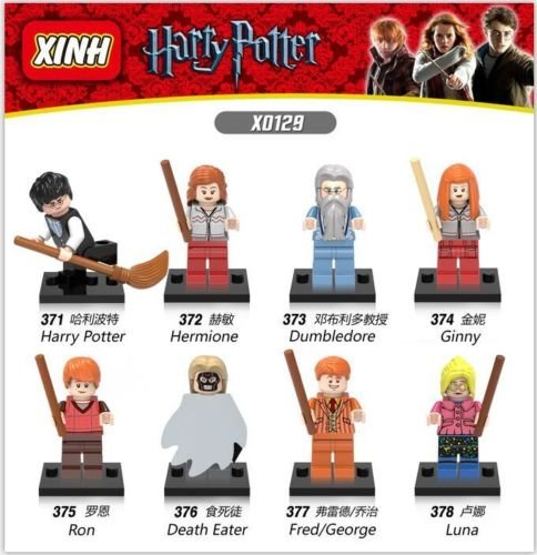 [8 sets Minifigures Harry Potter Hermione Ginny Fred Dumbledore Ron Fit Lego Toys] (Road Cone Costume)