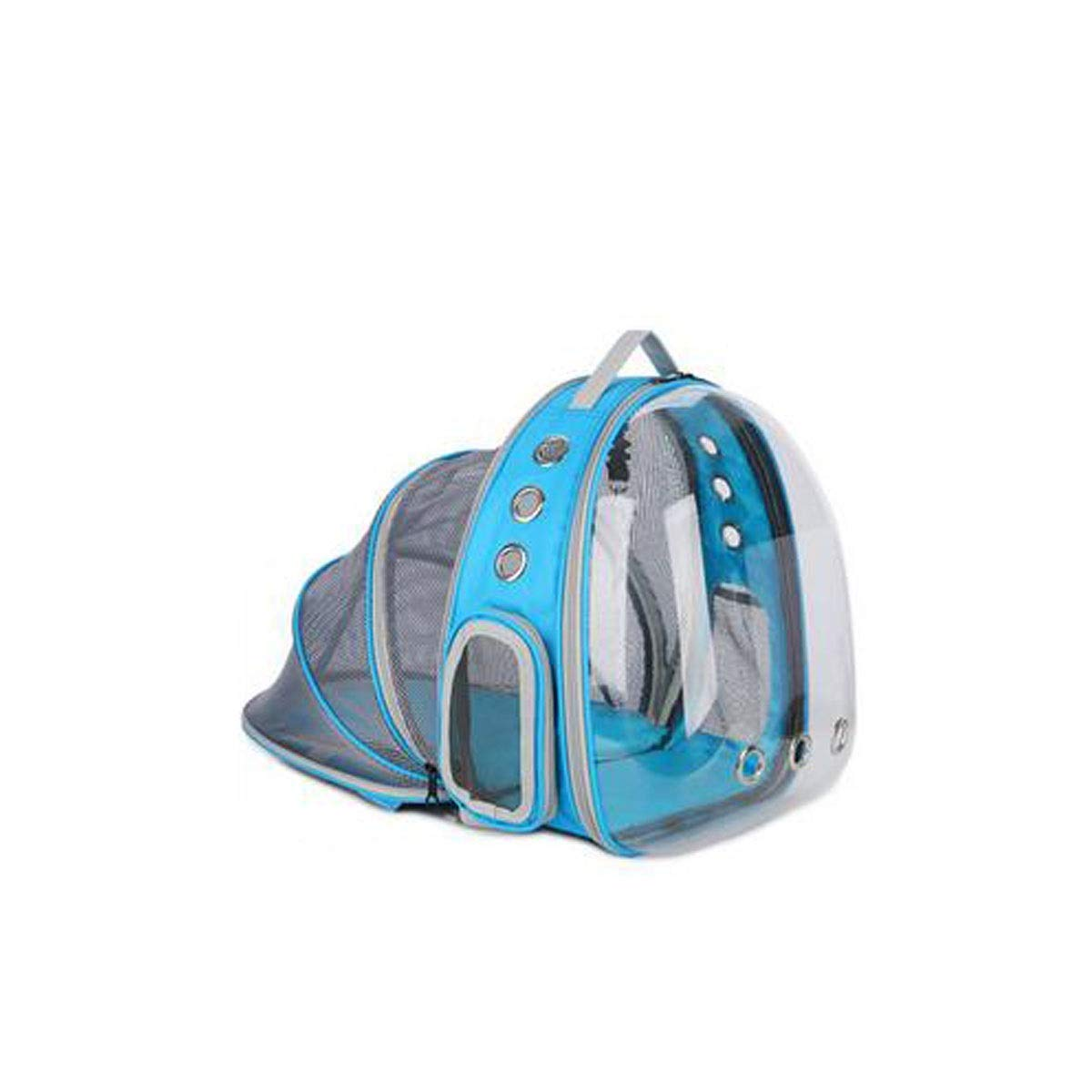 bluee Guyuexuan Expandable pet capsule transparent backpack, waterproof backpack, portable bubble backpack airline approved(Black, bluee, Pink, Red) Pet Travel Essentials (color   bluee)
