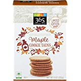 365 Everyday Value Maple Cookie Thins, Maple, 255g