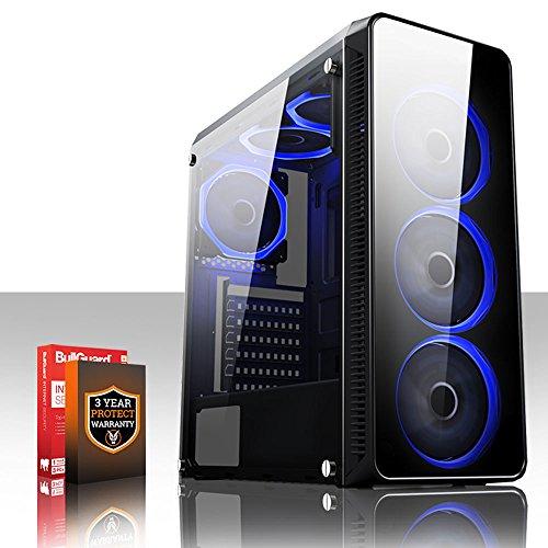 Fierce Gaming PC – AMD Ryzen 5 2600 3.9GHz, AMD RX 570 8GB, 8GB 3000MHz, 1TB Hard Drive, Windows 10 Compatible (Crusader…