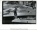 Vintage Photos 1992 Press Photo Mitchell Madlin looks around at Houston Summer Boat Show