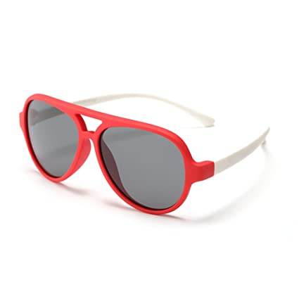 Gran Oval Personalidad Niños Gafas de Sol Lentes polarizadas Protección UV Niños y Niñas de 3