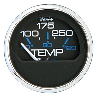 Faria 13704 Chesapeake Black 100-250°F Water Temp Gauge: Automotive