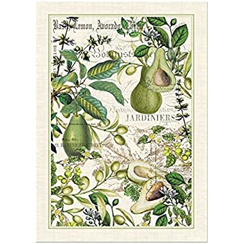 Captivating Michel Design Works Avocado Cotton Kitchen Towel, Green Part 7