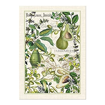 Beau Michel Design Works Avocado Cotton Kitchen Towel, Green